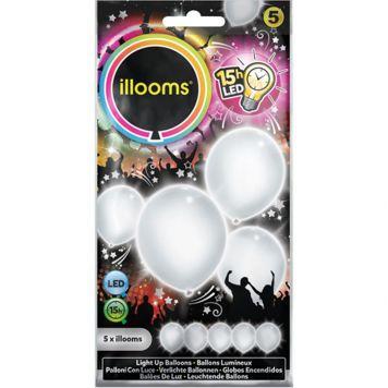 Ballonnen Illooms White 5 Pack