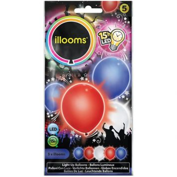 Illooms Red, White, Blue 5 Pack