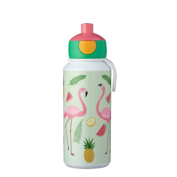 Mepal Drinkfles Pop-Up Tropical Flamingo 400 ml