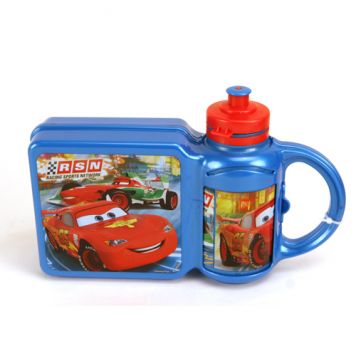 Lunchbox + Drinkfles Cars
