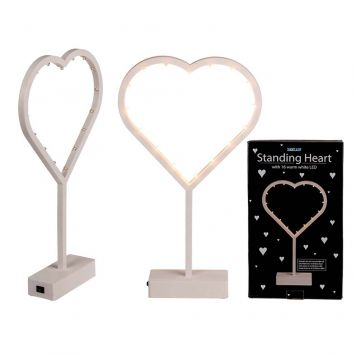 Hart Led Lamp Staand Wit 38,5 Cm