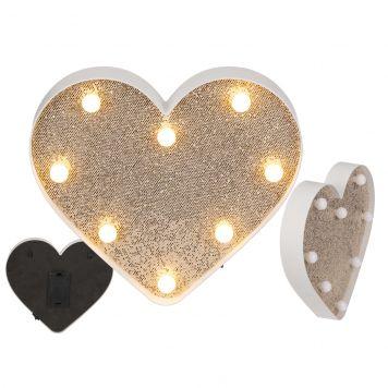 Hart Glitter Led Licht