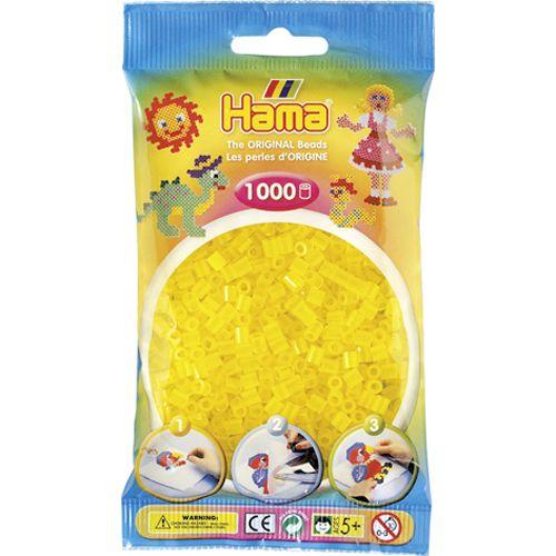 Strijkkralen Hama 1000 Stuks Geel Doorzichtig