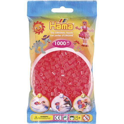 Strijkkralen Hama 1000 Stuks Rood Neon