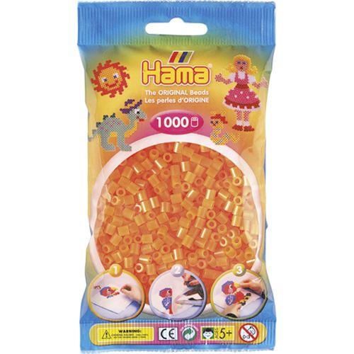 Strijkkralen Hama 1000 Stuks Oranje Neon