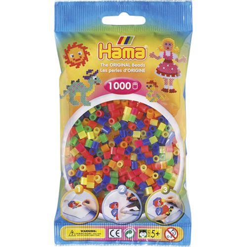 Strijkkralen Hama 1000 Stuks Neon Assorti 1