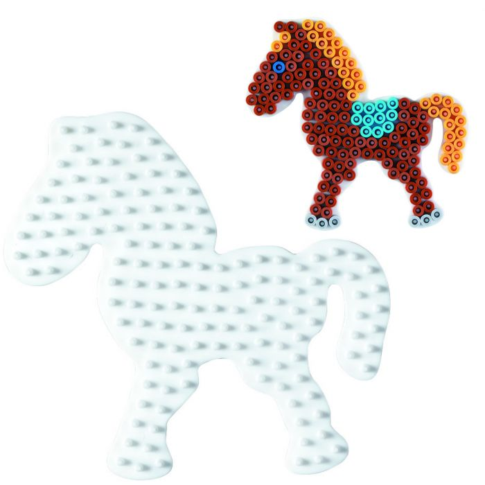 Strijkkralen Grondplaat Hama Paard Wit