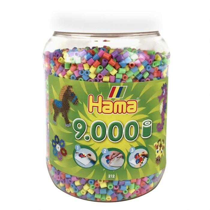 Strijkkralen Hama In Pot 9000 Stuks Pastel