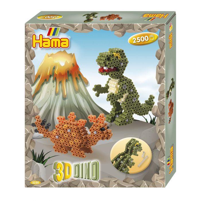 Strijkkralen Gift Box 3D Dino 2500 Delig