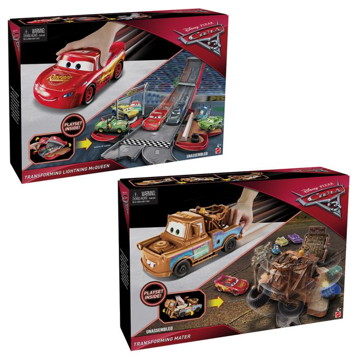Cars 3 Transforming Mater And Blue Mcqueen Assorti