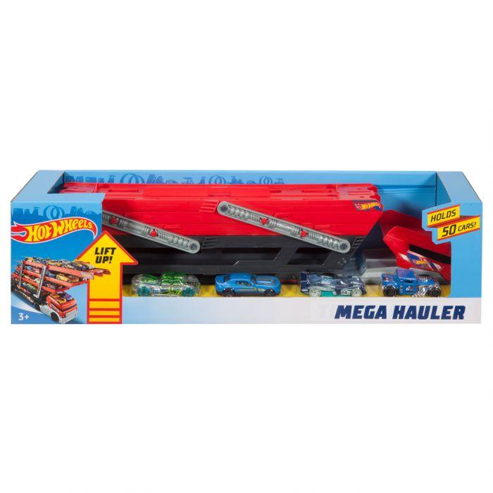 Hot Wheels Mega Hauler Met 4 Auto's