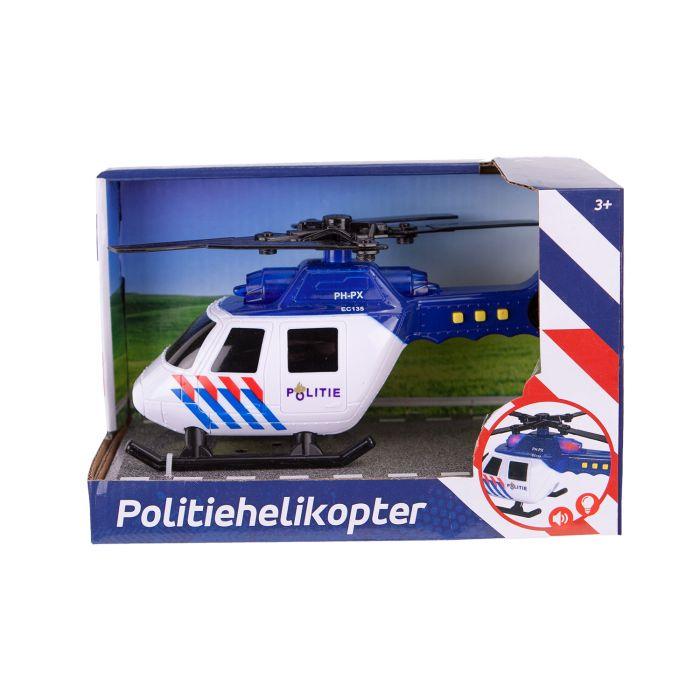 Politie Helikopter Met Licht En Geluid