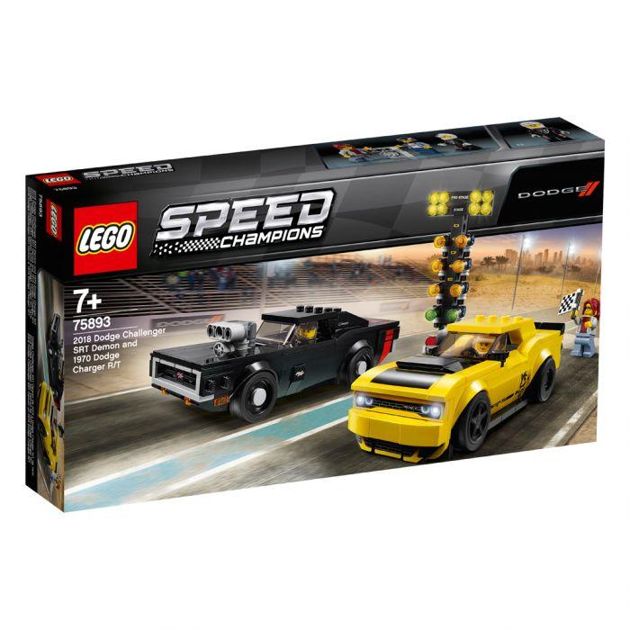 LEGO Speed Champions 75893 2018 Dodge Challenger SRT Demon en 1970 Dodge Charger