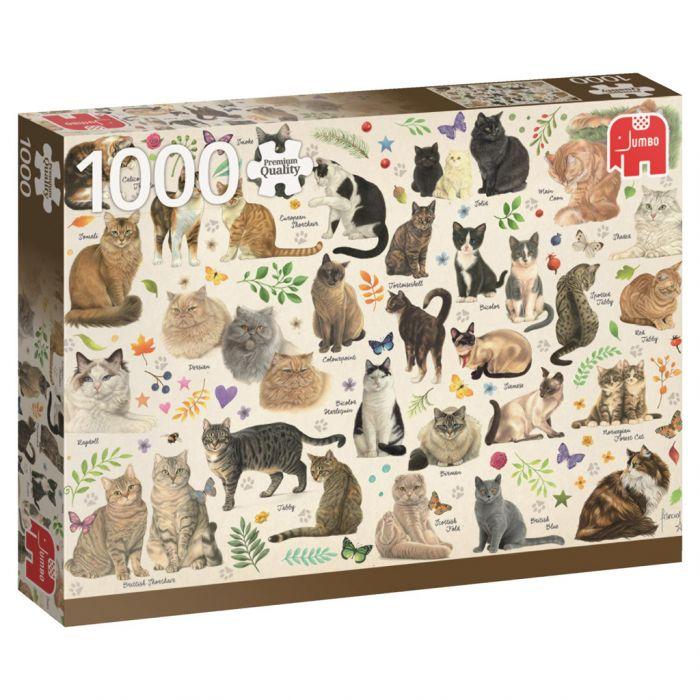 Puzzel Cats Poster 1000 Stukjes