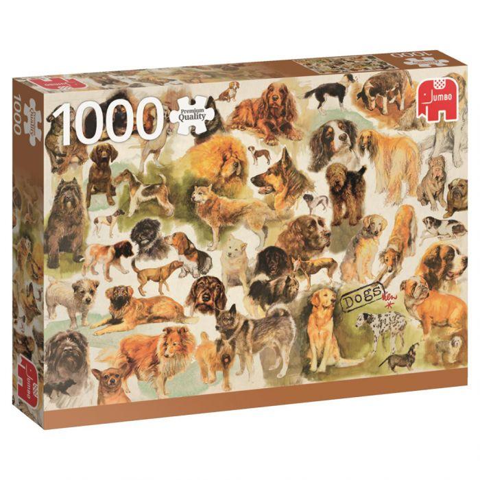 Puzzel Dogs Poster 1000 Stukjes