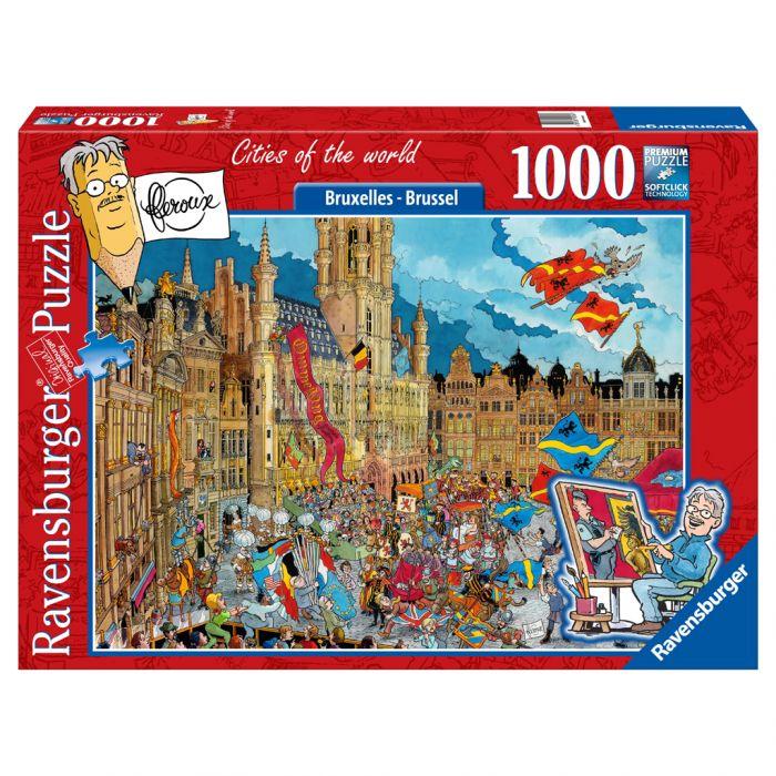 Puzzel Fleroux: Brussel 1000 Stukjes