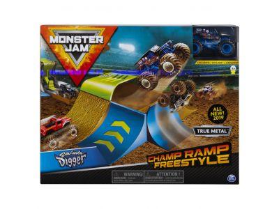Monster Jam Stunt Playsets 1:64 3 Pack