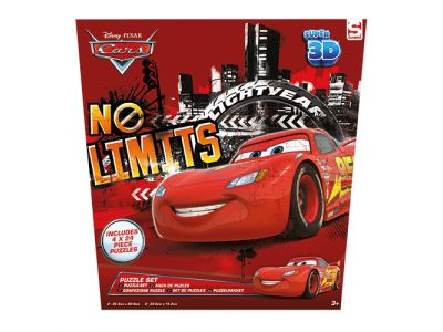 3D Puzzel Disney Cars 4 In 1