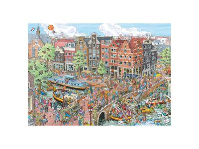 Puzzel Fleroux: Amsterdam 1000Stuks
